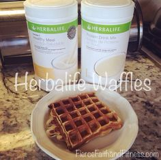 Herbalife Waffles. I just L O V E how versatile our Herbalife products are! Our number 1 meal replacement shake can easily be turned into delicious waffles! Making it easy to stay on track with your health goals.