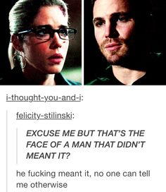 the ship cannot sink before it even sails! Stephen Amell Arrow, Arrow Oliver, Team Arrow, Arrow Tv, Tommy Merlyn, The Cw Tv Shows, Oliver Queen Felicity Smoak, Tv Show Couples, Three Best Friends