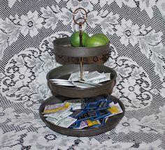 Tidbit tray Farmhouse 3 tiered cake pan vintage by prettydish