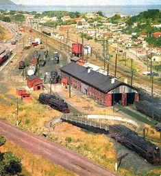 PAEKAKARIKI Rail Yards - early 1960s .. OWR 7 Jan 2016