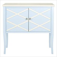 Safavieh Winona Light Blue and White Buffet with Storage - The Home Depot Sideboard Table, White Sideboard, White Buffet, Wine Storage, Drawer Storage, Storage Ideas, Boutique, Bedding Shop, Home Furniture
