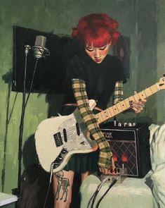 tavi - Art by Vincent Giarrano * Chicas Punk Rock, Mode Harajuku, Riot Grrrl, Art Reference Poses, Pretty Art, Looks Cool, Aesthetic Art, Belle Photo, Art Inspo