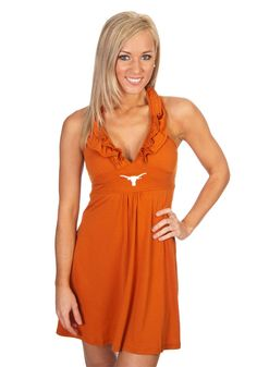 Texas (UT) Longhorns Women's Ruffled Dress