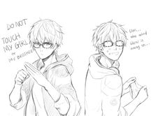 "kinlkeyl: "" The cool side & the dorky side of Seven i love them both tho///// """