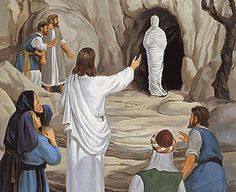 Jesus calling Lazarus from the tomb, in which he had been buried four days previous. Jesus called him back to life. Images Bible, Bible Pictures, Jesus Pictures, Jesus Christ Images, Jesus Art, Religious Paintings, Religious Art, Bible Art, Bible Scriptures