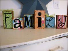 Wood blocks.