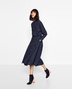 Image 1 of STRIPED OVERSIZED DRESS from Zara