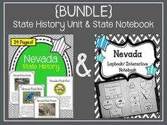 This is a {BUNDLE} of the following two products: Nevada State History UnitNevada State Lapbook and Interactive Notebook