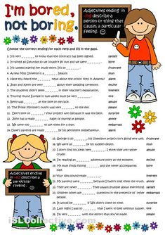 ed ing adjectives exercises
