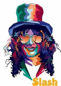 Portraits Pop Art, Portrait Art, Guns N Roses, Art Rupestre, Digital Foto, Rock Poster, Band Wallpapers, Rock Legends, Axl Rose