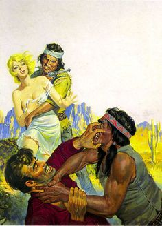 Pulp Fiction Kunst, Comic Art Girls, Westerns, Western Comics, West Art, Cowboy Art, Horse Drawings, Pokemon Pictures, Native American History