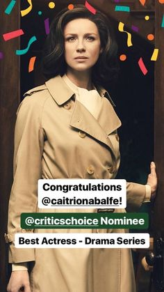 "themusicsweetly:  "" Congratulations, Caitriona! 🎉🎊🎉🎊🎉🎊🎉 (via the Official Outlander_Starz Instagram story)  """