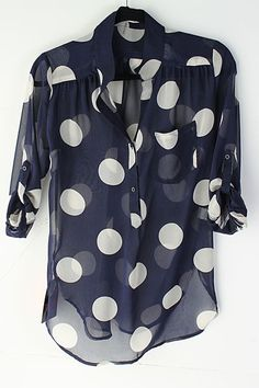 polka dots is one of my favorites, would love to have this type of shirt with big polka dots