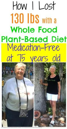 At 75 years of age, Esther Loveridge was able to get off all of her medications, lose 130 lbs, avoid surgery, and start living again by simply switching to a whole food plant-based diet. Low Fat Diet Plan, Diet Plans To Lose Weight Fast, Healthy Food To Lose Weight, Weight Loss Meal Plan, Losing Weight, Plant Based Diet Meals, Plant Based Whole Foods, Best Weight Loss Foods, Weight Loss Drinks