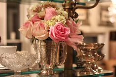 Love silver and roses!  Romancing the Home: March 2012