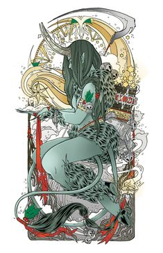 Helen Mask Illustration — Lady Krampus Pick a color. Pagan Yule, Bad Santa, Dark Christmas, Fantasy Art, Lady Fantasy, New Art, Illustrators, Art Nouveau, Character Design