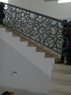 #saudiarabia #riyadh #doors #gates #design #cnc #lifestyle #modern #cadd #beautiful #metaldoor #lasercut #ابواب #stairs #railings Staircase Railing Design, Modern Stair Railing, Iron Stair Railing, Metal Stairs, Stair Handrail, Modern Stairs, Balcony Grill Design, Window Grill Design, Gate Design