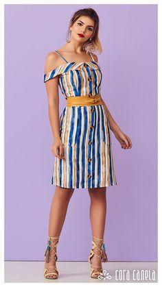 LOOK BOOK 8 • Coleção Cosmopolitan • Cora Canela Casual, Ideias Fashion, Fashion Dresses, Summer Dresses, Clothes For Women, Womens Fashion, Style, Casual Gowns, Beautiful Dresses