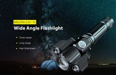 BRELONG E39 - T6 Wide Angle Flashlight Long Range for Daily Use Bright Led Flashlight, Long Shot, Wide Angle, Angles, Guns, Weapons Guns, Weapons, Handgun