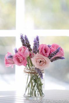 24 x medium round glass jars without lids - tall - Perfect dessert jars! Beautiful Flower Arrangements, Floral Arrangements, Beautiful Flowers, Diy Wedding, Wedding Flowers, Wedding Stuff, Wedding Ideas, Flowers In Jars, Flower Jars
