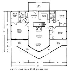 Post and beam beams and floor plans on pinterest for Open concept post and beam house plans