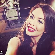 Loving the red lips on Janel Parrish. | Pretty Little Liars
