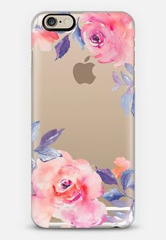 Cute Watercolor Flowers Purples + Blues iPhone 6 case by Angie Makes | Casetify
