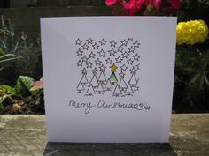 This card is hand drawn and painted individually - NOT PRINTED. A little bit of original artwork for your greetings. Thank you for looking.