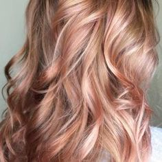 Beautiful Rose Gold / Balayage / Blush by dolores