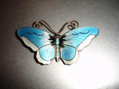 Norway Sterling Enamel Butterfly Pin Brooch Opro Designer Signed 1940s   eBay
