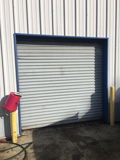 Door needing repair. //.hillenterprises.net/ | # & BEFORE: Photos of Cookson Door damaged by truck trailer at Loading ...