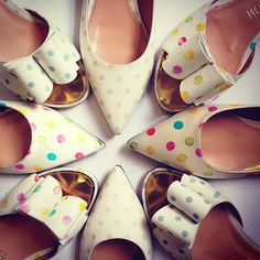 Relaunching Palter DeLiso today celebrates its original DNA of daring design and luxe details throughout every aspect of the brand, originally established in New York in Polka Dot Flats, Polka Dots, High Heels, Shoes Heels, Heeled Mules, Slippers, Fancy, The Originals, Stylish