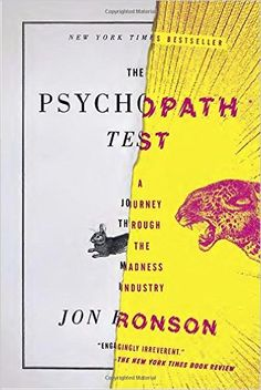 This psychedelic book cover illustrates the content of Jon Ronson's The Psychopath Test.