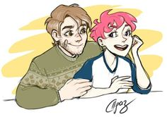 Remus and Tonks Harry Potter Ships, Harry Potter Fan Art, Harry Potter Characters, Fictional Characters, Tonks And Lupin, Turn To Page 394, The Marauders, Hogwarts, Character Design