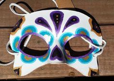 Sugar Skull Mask  Ready To Ship by BoondockStudios on Etsy, $55.00