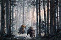 "Digital painting in Photoshop ""Bison hunt"" for a personal project. Bison Hunting, Creatures, Photoshop, Deviantart, Illustration, Artworks, Painting, Digital, Design"