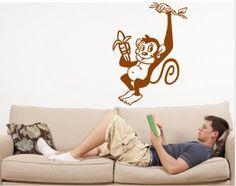 Monkey wall sticker by www.wallchimp.co.uk