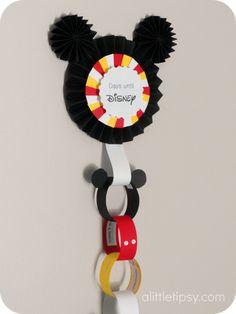 Disney Countdown with free activities printable
