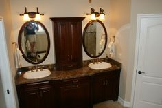 A Beautiful bathroom designed & installed by Royal Palm closet design & fine cabinetry 239-768-2391
