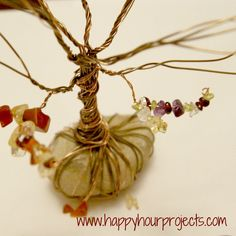Happy Hour Projects: Wire Wrapped Tree Wire Wrapped Jewelry, Wire Jewelry, Jewellery, Wire Tree Sculpture, Wire Trees, Craft Club, Spring Art, Wire Crafts, Beads And Wire