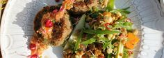 Quinoa, walnut and kale burgers