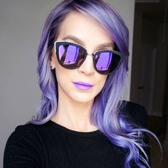 "From @leighannsays - ""all purple everything  my new video just went live! (link in bio)  sunglasses = @quayaustralia @whitefoxboutique 