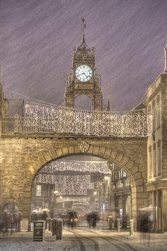 Chester Clock, England - The Eastgate Clock is a turret clock built above the Eastgate of the ancient walls of Chester.