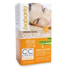 BABARIA Creme Facial C/Cor Suave Aloe Vera FP20 50ml