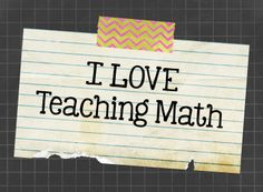 Teaching resources and ideas for math.