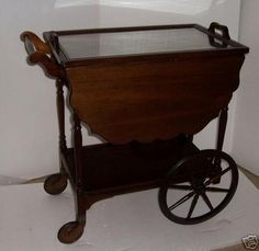 1920s Tea Cart By Paalman Furniture Cherries Tea Cart