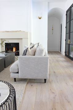 The House of Silver Lining: Our Sleek Minimalist Living Room Home Living Room, Living Room Furniture, Living Room Decor, Modern Furniture, Living Room Flooring, Rooms Home Decor, Furniture Sale, Dining Rooms, Furniture Design