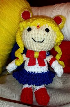 Sailor Moon Amigurumi Doll by KawaiiKehaulani on Etsy  Here is one of my cute little creations!