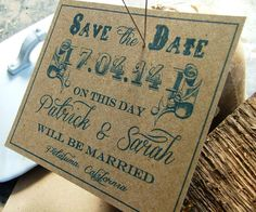 Save the date cards Rustic Wedding Lovely by sweetinvitationco