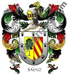 So, this is my family! Escudo del apellido Sáenz http://www.plusesmas.com/genealogia/escudos/saenz/41103/